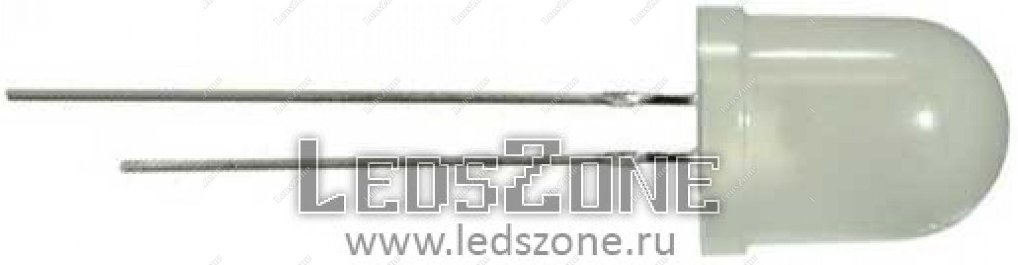 Светодиоды 10мм трехцветные медленно мигающие (белая матовая линза)