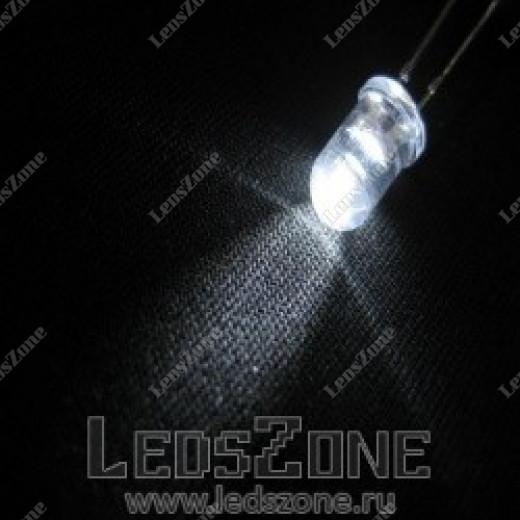 Светодиоды 3мм белые (белая прозрачная линза)