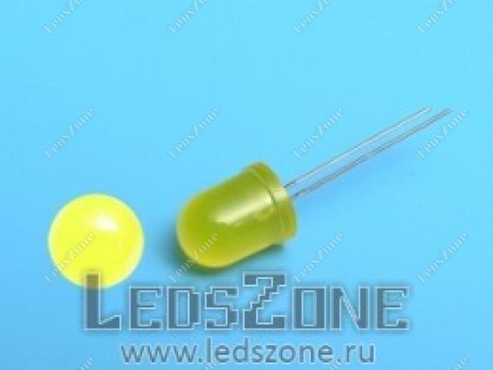 Светодиоды 10мм желтые (желтая матовая линза)
