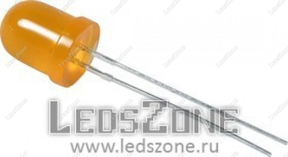 Светодиоды 8мм оранжевые (оранжевая матовая линза)