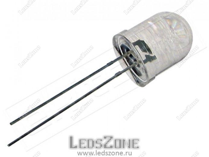 Светодиоды 10мм ультрафиолетовые (белая прозрачная линза)