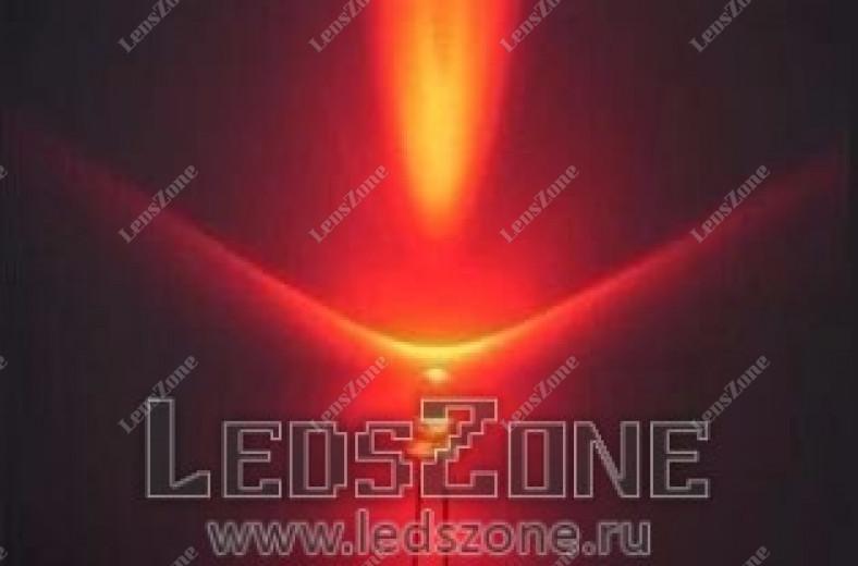 Светодиоды 3мм красные (белая прозрачная линза)