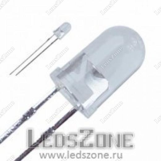 Светодиоды 5мм зеленый (белая матовая линза)