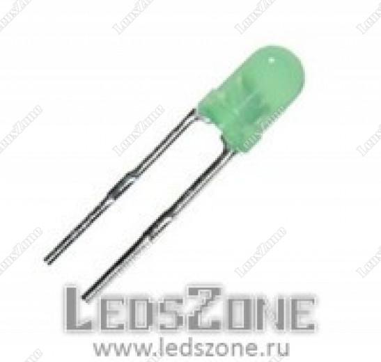 Светодиоды 3мм зеленые (выводы 15мм)