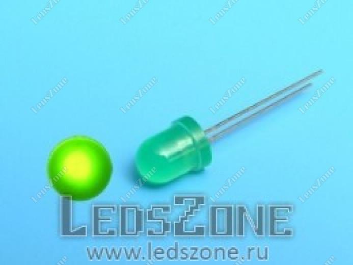 Светодиоды 8мм  зеленые (зеленая матовая линза)