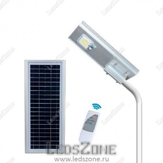 LED прожектор 50W на солнечной батарее с пультом