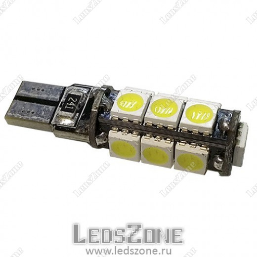 Авто лампы T10 13smd 5050 с обманкой
