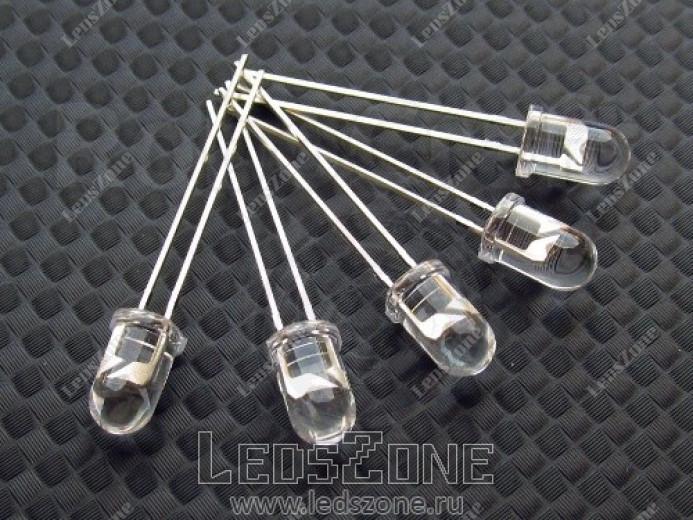 Светодиоды 5мм белые (белая прозрачная линза)
