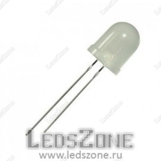 Светодиоды 10мм желтый (белая матовая линза)