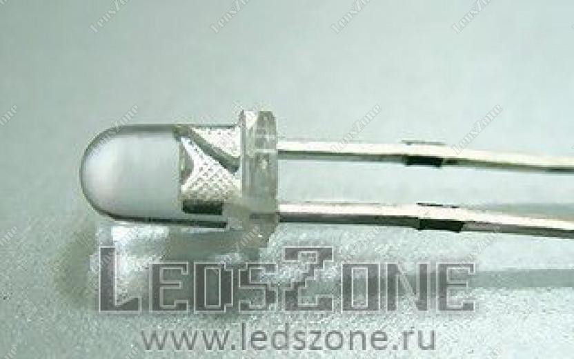 Светодиоды 3мм мигающие (белая прозрачная линза)