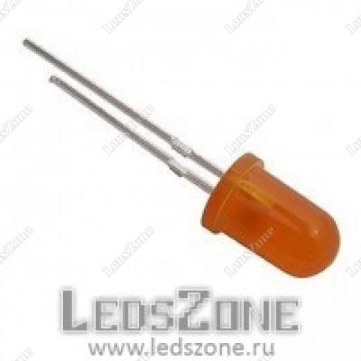 Светодиоды 5мм оранжевые (оранжевая матовая линза)