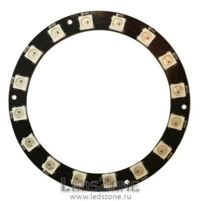 Адресное светодиодное кольцо WS2812B-16 LED d70