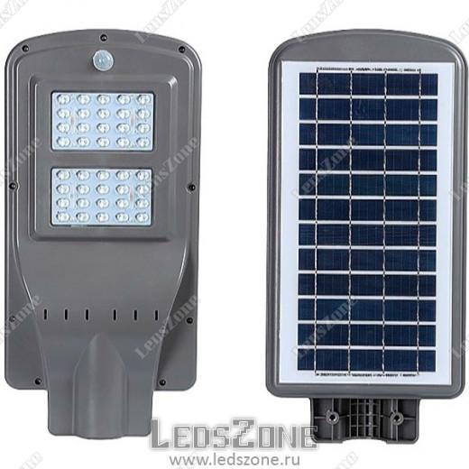 LED прожектор 40W на солнечной батарее с датчиком движения