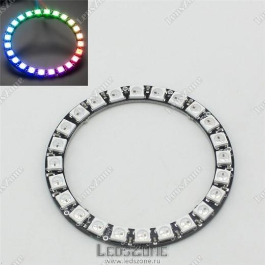 Адресное светодиодное кольцо WS2812B-24 LED d66