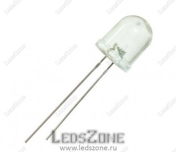 Светодиоды 10мм прозрачная линза 12v