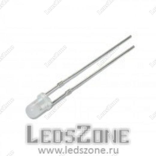 Светодиоды 3мм синие мигающие (белая матовая линза)