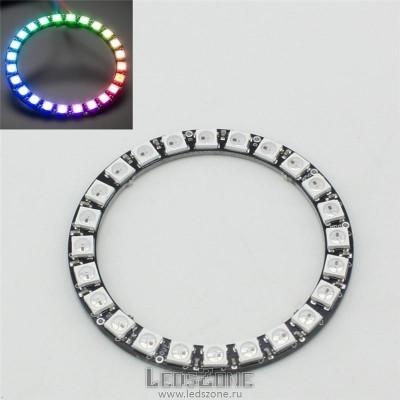 Адресное светодиодное кольцо WS2812B-24 LED d70