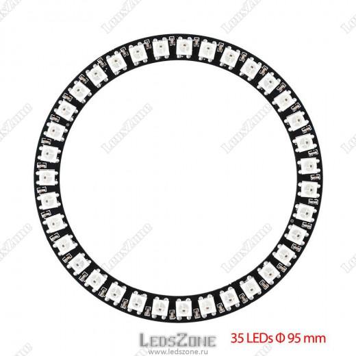 Адресное светодиодное кольцо WS2812B-35 LED d100
