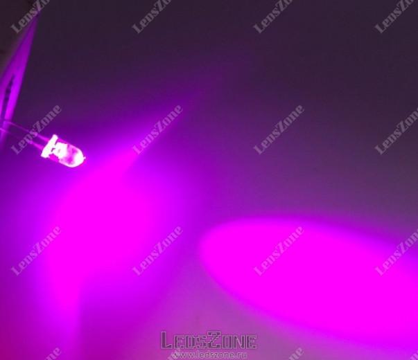 Светодиоды 5мм розовые (белая прозрачная линза)
