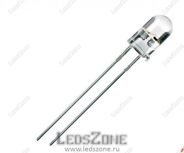 Светодиоды 5мм  ультрафиолетовые (белая прозрачная линза)