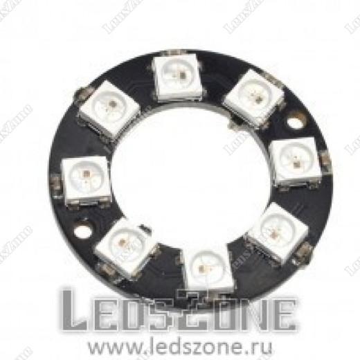 Адресное светодиодное кольцо WS2812B-8 LED d26