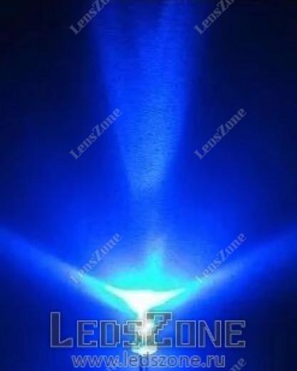 Светодиоды 3мм синие (белая прозрачная линза)