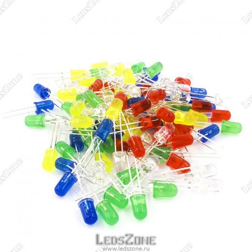 Светодиоды 5мм мигающие (цветная матовая линза)