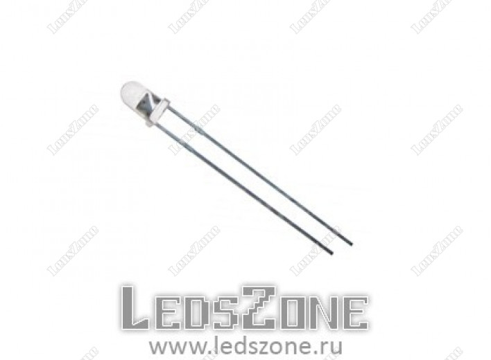 Светодиоды 3мм двухцветные (белая прозрачная линза)