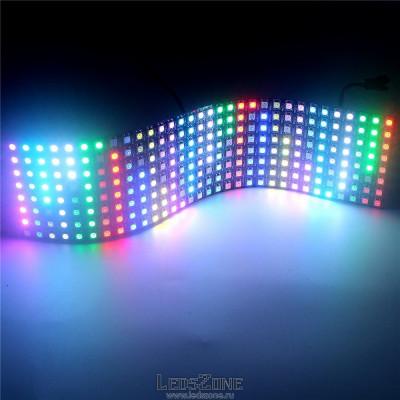 Гибкая светодиодная панель WS2812В 8*32