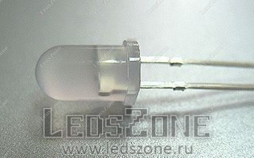 Светодиоды 5мм двухцветные мигающие (белая матовая линза)
