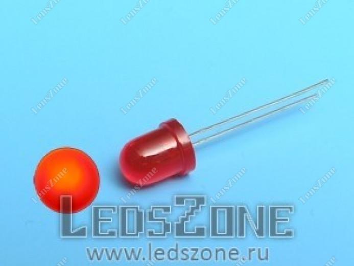 Светодиоды 8мм красные (красная матовая линза)