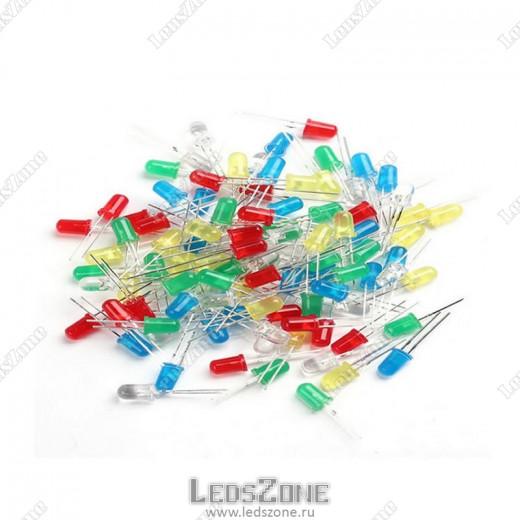 Светодиоды 5мм цветная линза 12v